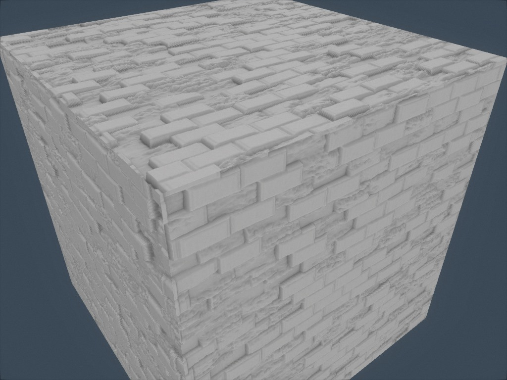 Wall texture with ambient occlusion