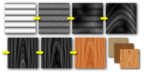 Steps for creating a wood texture