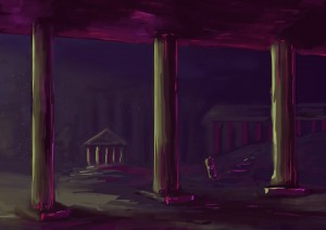 Concept art of the underwater scenery