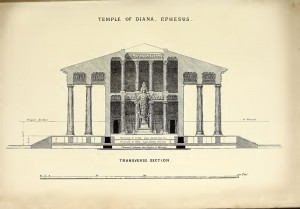 Temple of Diana - Transverse section