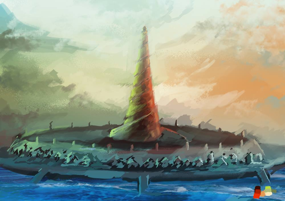 Concept art of Atlantis