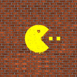 Pacman on a wall